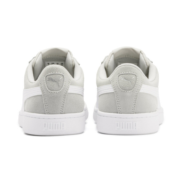 PUMA Vikky v2 Suede Sneakers JR, Gray Violet-White-Silver, large