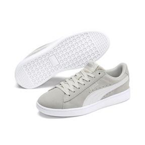 Thumbnail 2 of PUMA Vikky v2 Suede Sneakers JR, Gray Violet-White-Silver, medium