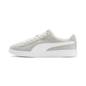 Thumbnail 1 of PUMA Vikky v2 Suede Sneakers JR, Gray Violet-White-Silver, medium