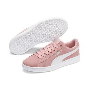 Thumbnail 5 of PUMA Vikky v2 Suede Sneakers JR, Bridal Rose-White-Silver, medium