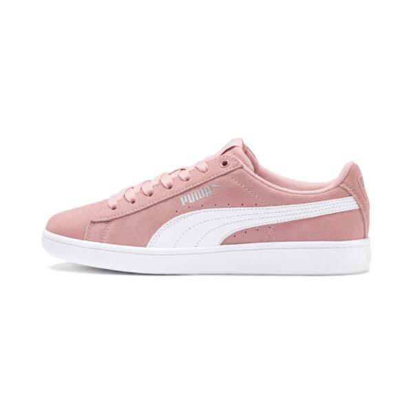 PUMA Vikky v2 Suede Sneakers JR, Bridal Rose-White-Silver, large