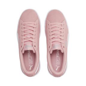 Thumbnail 6 of PUMA Vikky v2 Suede Sneakers JR, Bridal Rose-White-Silver, medium