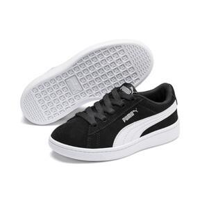 Thumbnail 2 of PUMA Vikky v2 Suede AC Sneakers PS, Puma Black-Puma White-Silver, medium