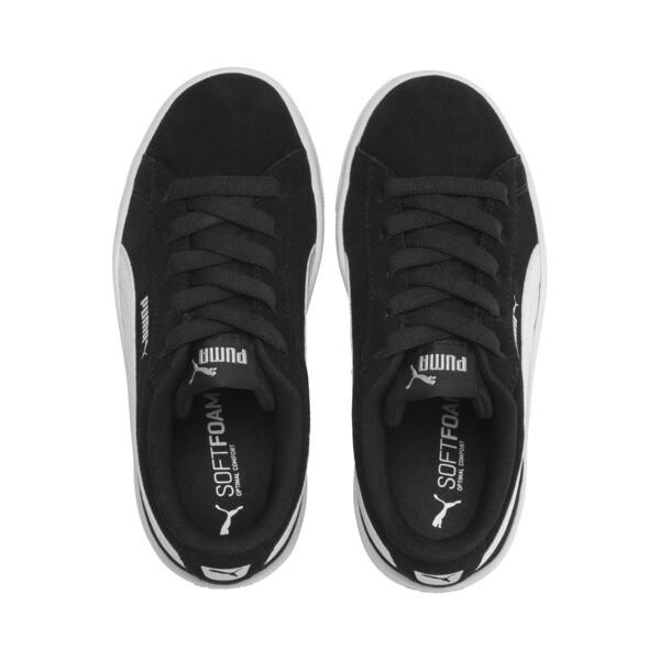 PUMA Vikky v2 Suede AC Sneakers PS, Puma Black-Puma White-Silver, large