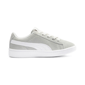 Thumbnail 5 of PUMA Vikky v2 Suede AC Sneakers PS, Gray Violet-White-Silver, medium