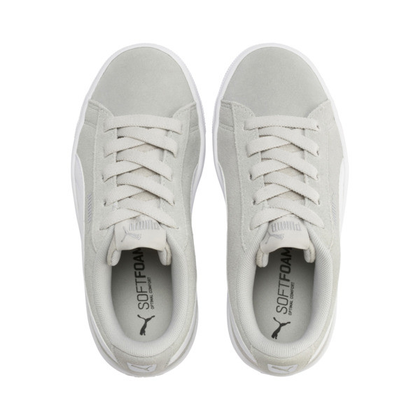 PUMA Vikky v2 Suede AC Sneakers PS, Gray Violet-White-Silver, large