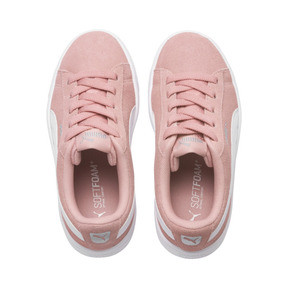 Thumbnail 6 of PUMA Vikky v2 Suede AC Sneakers PS, Bridal Rose-White-Silver, medium