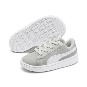 Thumbnail 2 of PUMA Vikky v2 Suede AC Sneakers INF, Gray Violet-White-Silver, medium