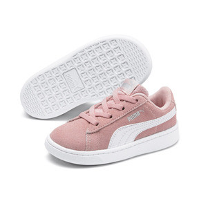Thumbnail 5 of PUMA Vikky v2 Suede AC Sneakers INF, Bridal Rose-White-Silver, medium