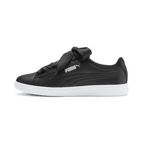 Thumbnail 1 of PUMA Vikky v2 Ribbon Sneakers JR, Puma Black-Puma Silver-White, medium