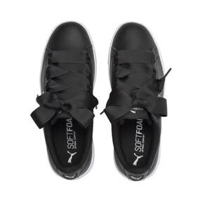 Thumbnail 6 of PUMA Vikky v2 Ribbon Sneakers JR, Puma Black-Puma Silver-White, medium