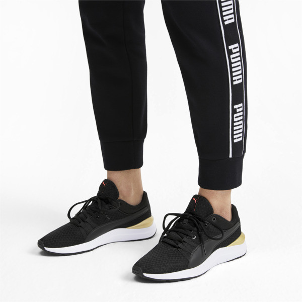 Adela Core Women's Sneakers, Puma Black-Puma Team Gold, large