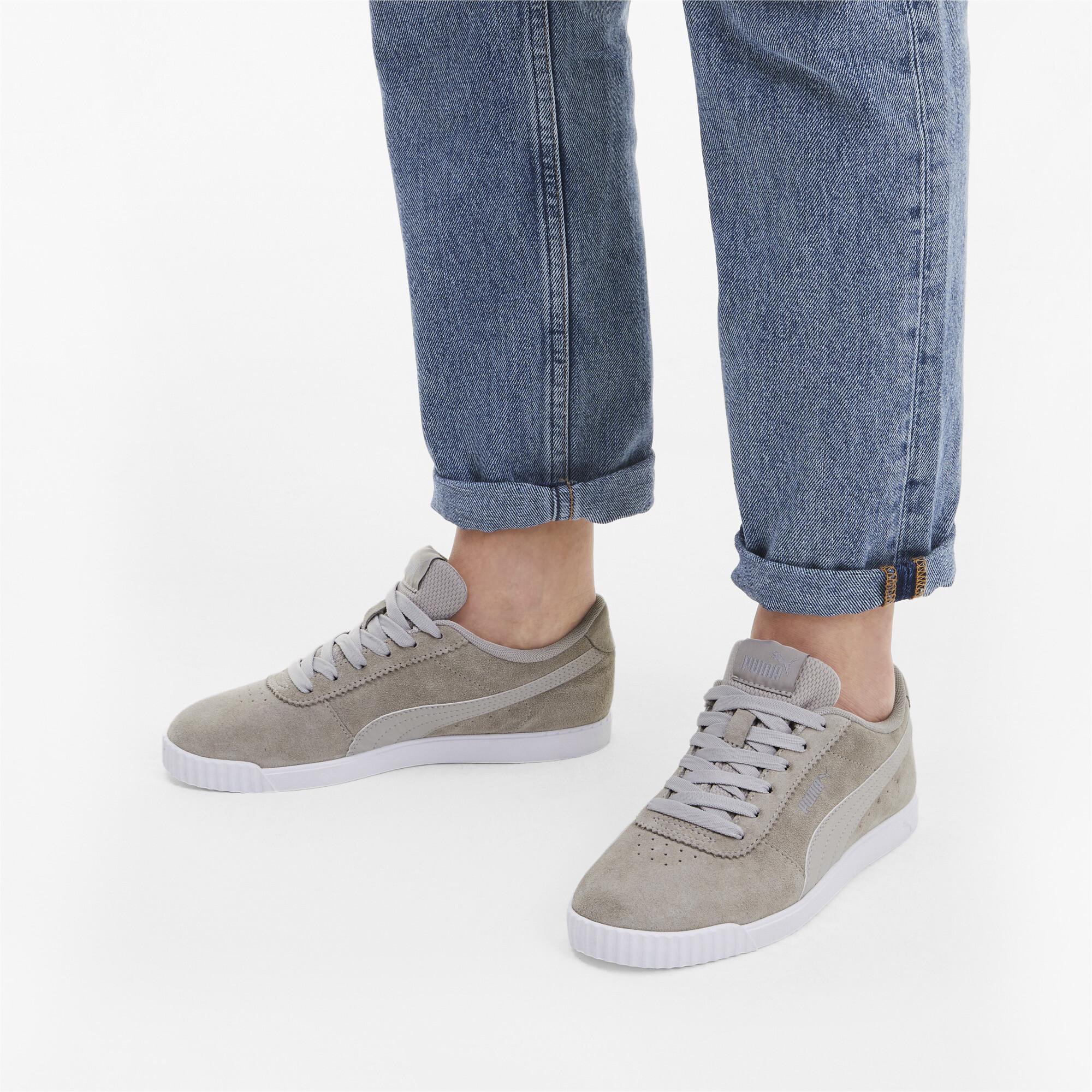 PUMA-Women-039-s-Carina-Slim-Suede-Sneakers thumbnail 5