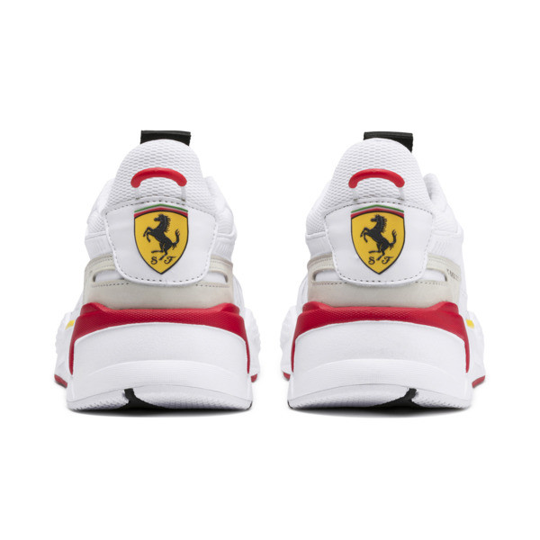 Ferrari RS-X Trophy Trainers, White-White-Rosso Corsa, large
