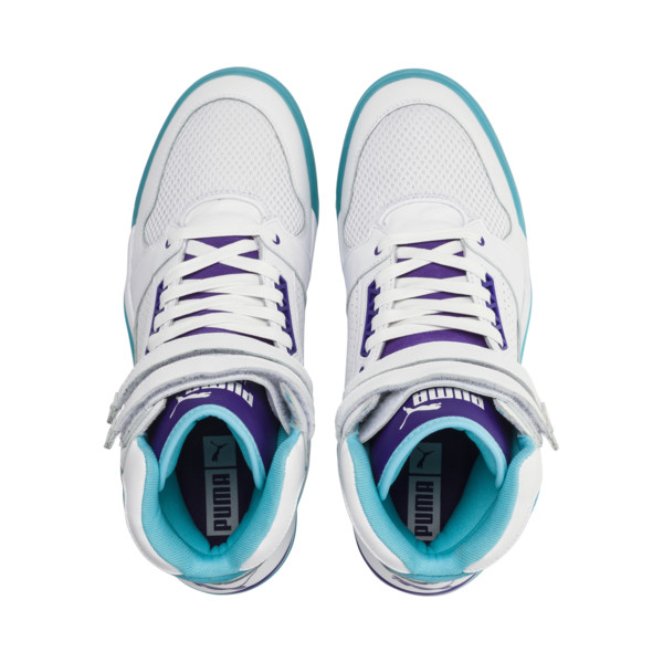 newest e7b92 cc647 Palace Guard Mid Queen City Sneakers, Puma White-Blue Atoll, large. ‹ ›
