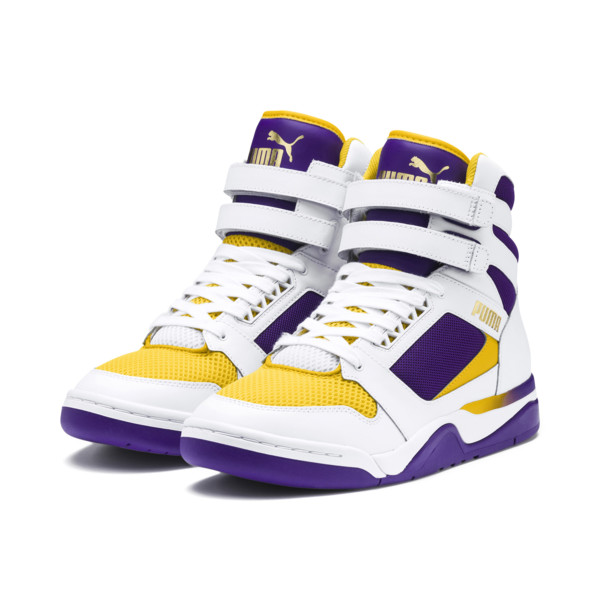 Palace Guard Mid Finals Sneakers, Puma White-Prism Violet-, large