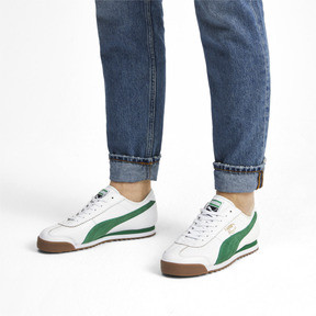 Thumbnail 2 of Roma '68 OG Sneakers, Puma White-Amazon Green, medium