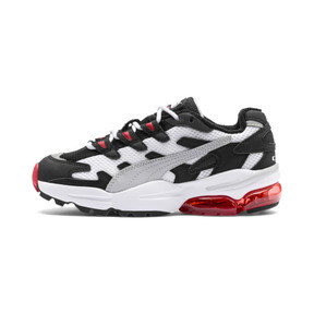 Thumbnail 1 of CELL Alien Kids' Trainers, Puma White-High Risk Red, medium