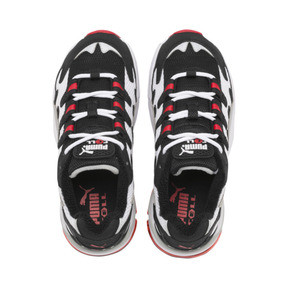 Thumbnail 6 of CELL Alien Kids' Trainers, Puma White-High Risk Red, medium