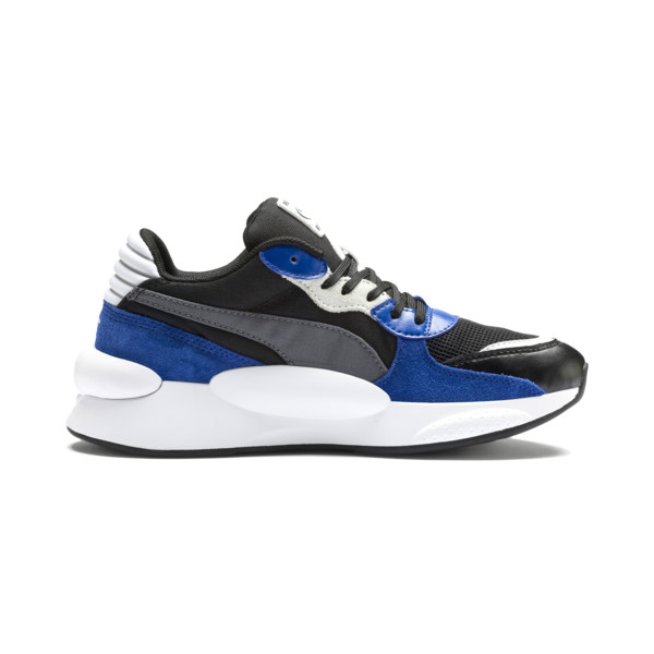 RS 9.8 Space Youth Trainers, Puma Black-Galaxy Blue, large