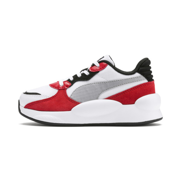 RS 9.8 Space Kids' Trainers, Puma White-High Risk Red, large