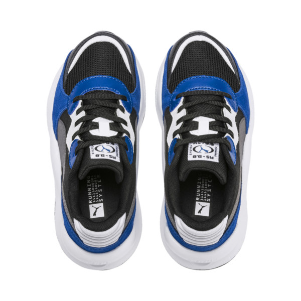 RS 9.8 Space Kids' Trainers, Puma Black-Galaxy Blue, large