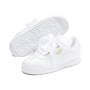 Miniatura 2 de Zapatos de charol Roma Heart para niña pequeña, Puma White, mediano