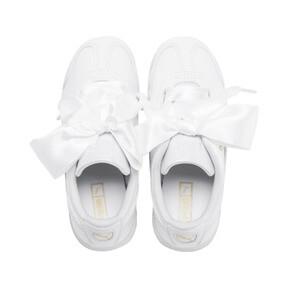 Miniatura 6 de Zapatos de charol Roma Heart para niña pequeña, Puma White, mediano