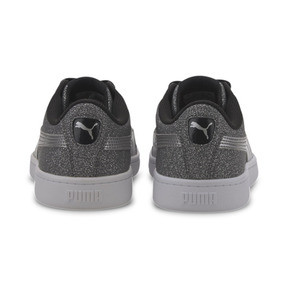 Thumbnail 3 of PUMA Vikky v2 Glitz Sneakers JR, Puma Black-Puma Silver-White, medium