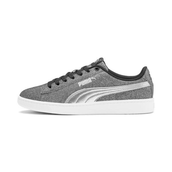 PUMA Vikky v2 Glitz Sneakers JR, Puma Black-Puma Silver-White, large