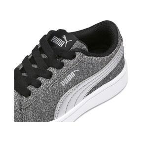 Thumbnail 7 of PUMA Vikky v2 Glitz AC Sneakers PS, Puma Black-Silver-White, medium