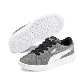 Thumbnail 2 of PUMA Vikky v2 Glitz AC Sneakers PS, Puma Black-Silver-White, medium