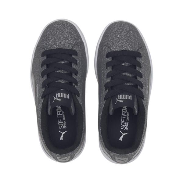 PUMA Vikky v2 Glitz AC Sneakers PS, Puma Black-Silver-White, large