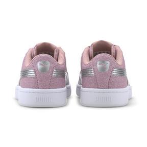 Miniatura 3 de Zapatos deportivos PUMA Vikky v2 Glitz AC PS, Bridal Rose-Silver-White, mediano