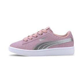 Miniatura 1 de Zapatos deportivos PUMA Vikky v2 Glitz AC PS, Bridal Rose-Silver-White, mediano