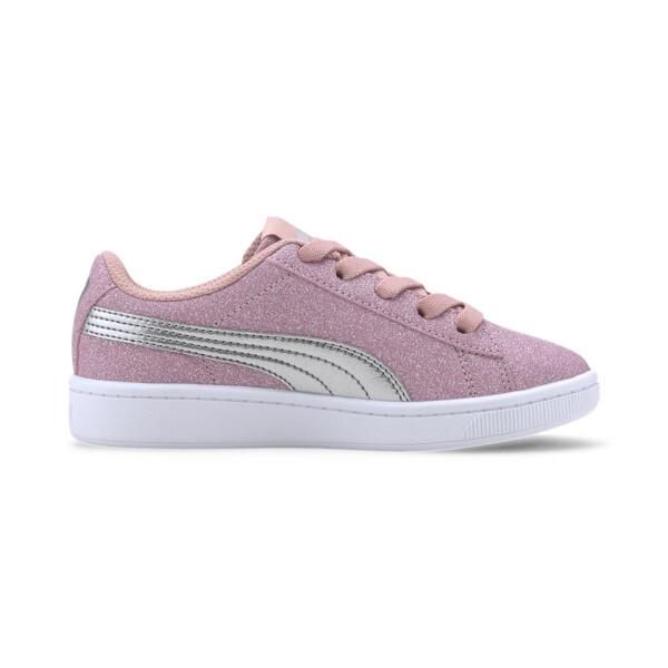 Zapatos deportivos PUMA Vikky v2 Glitz AC PS, Bridal Rose-Silver-White, grande
