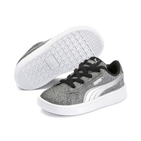 Thumbnail 2 of PUMA Vikky v2 Glitz AC Sneakers INF, Puma Black-Silver-White, medium