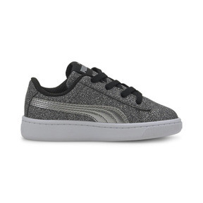 Thumbnail 5 of PUMA Vikky v2 Glitz AC Sneakers INF, Puma Black-Silver-White, medium