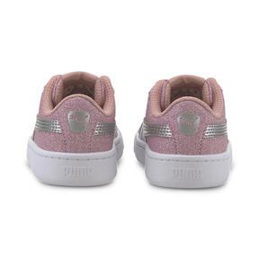 Thumbnail 3 of PUMA Vikky v2 Glitz AC Sneakers INF, Bridal Rose-Silver-White, medium