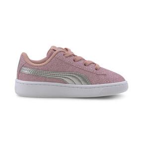 Thumbnail 5 of PUMA Vikky v2 Glitz AC Sneakers INF, Bridal Rose-Silver-White, medium