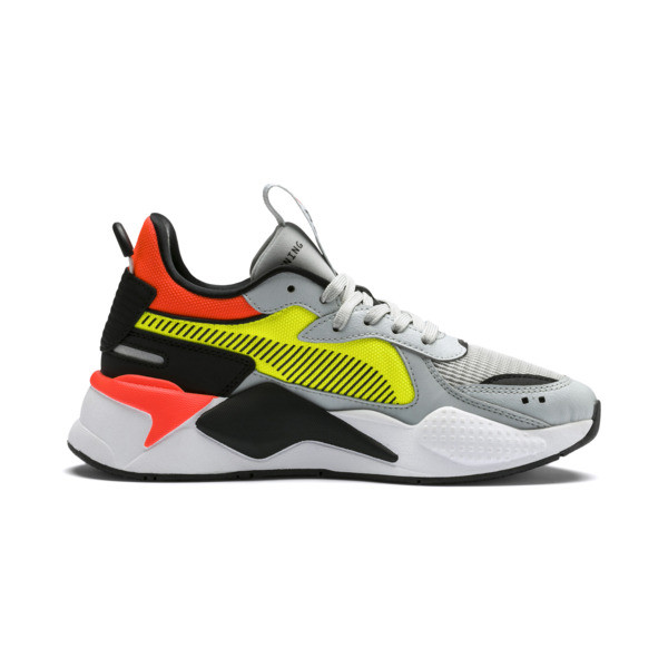 RS-X Hard Drive Youth Trainers, High Rise-Yellow Alert, large