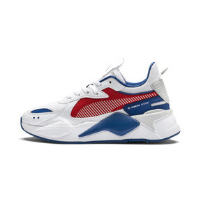 Thumbnail 1 of RS-X Hard Drive Youth Trainers, Puma White-High Risk Red, medium