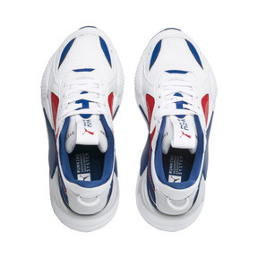 Thumbnail 6 of RS-X Hard Drive Youth Trainers, Puma White-High Risk Red, medium