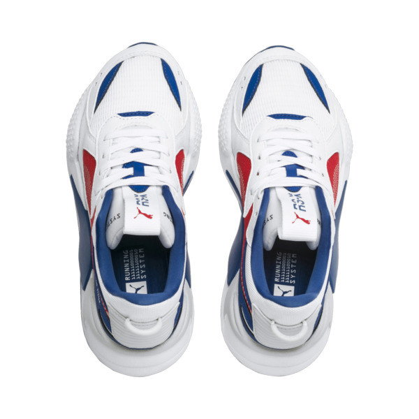 RS-X Hard Drive Sneakers JR, Puma White-High Risk Red, large