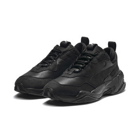 Thumbnail 2 of Thunder Leather Trainers, Puma Black, medium