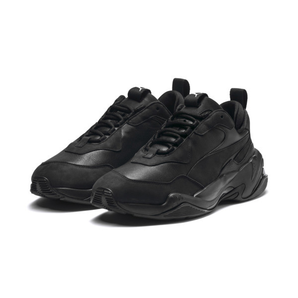 Thunder Leather Trainers, Puma Black, large