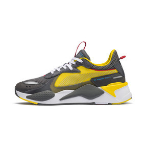 Thumbnail 1 of PUMA x TRANSFORMERS RS-X Bumblebee Trainers, QUIET SHADE-Cyber Yellow, medium