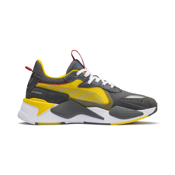 PUMA x TRANSFORMERS RS-X Bumblebee Trainers, QUIET SHADE-Cyber Yellow, large