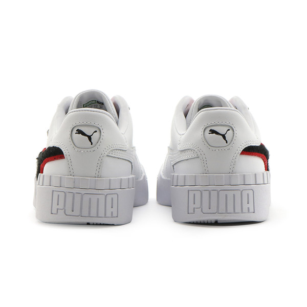 CALI シェニールウィメンズ, Puma White-Poppy Red, large-JPN