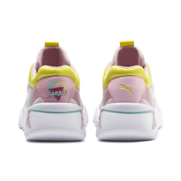 Nova x Barbie Women's Sneakers, Puma White-Orchid Pink, large